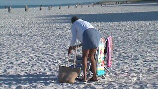 As Spring breakers line Pinellas County beaches they plan to follow COVID safety rules