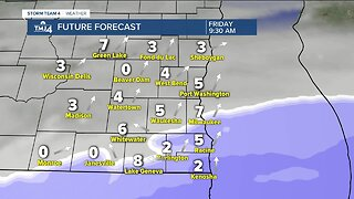 Chilly and mostly cloudy Friday ahead