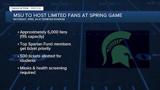 Michigan State to allow limited fans for spring game