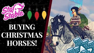 WINTER VILLAGE Shopping Spree! Buying The Fawncy, Brincle,& HEIDRUN Star Stable Quinn Ponylord