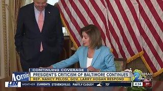 Pelosi defends hometown Baltimore, calls Kushner 'slumlord'