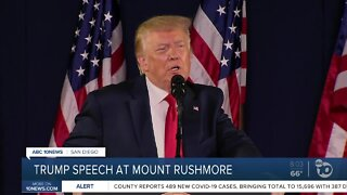 Trump gives speech at Mount Rushmore
