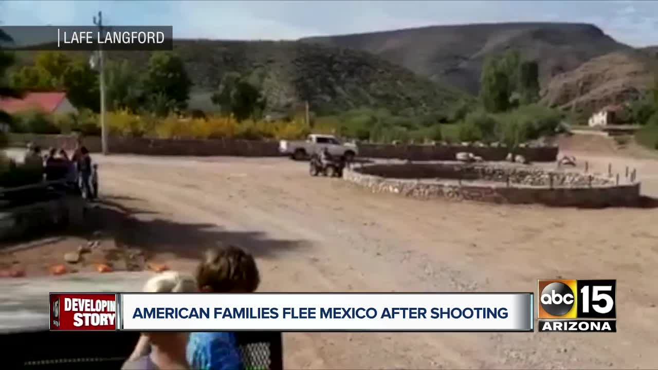 Families leaving after Mexico violence arrive in Arizona
