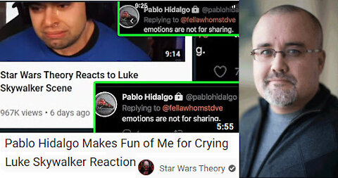 Pablo Hidalgo Makes Fun of Star Wars Theory guy for Crying Luke Skywalker Reaction