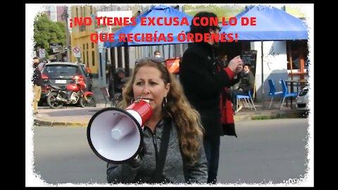 La verdad de la pandemia covid 19 dichas por una manifestante