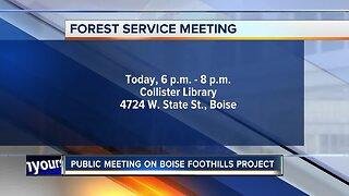 Boise foothills public meeting