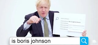 Boris Johnson Answers The Web's Most Searched Questions. :)