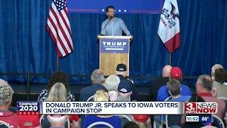Donald Trump Junior campaigns in Iowa