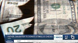 Father, daughter to donate stimulus checks