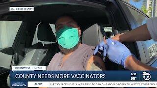 County needs more vaccinators