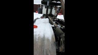 Garbage truck dumpster pickup