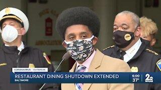 Restaurant dining shutdown extended