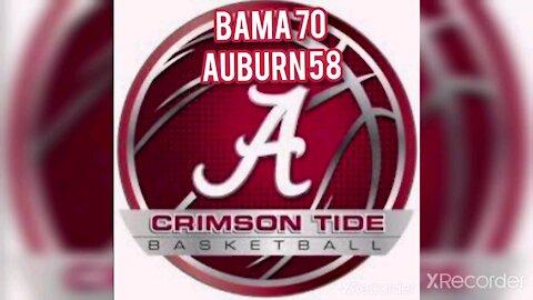 Bama 70 Auburn 58