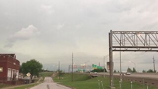 Storm moving into downtown Tulsa
