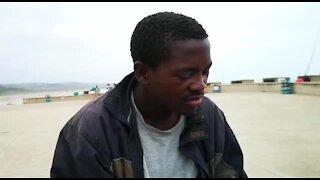 SOUTH AFRICA - Durban - Homeless man collects Flip Flops (Videos) (B2D)