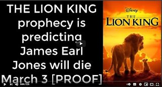 THE LION KING prophecy is predicting James Earl Jones will die March 3 [PROOF]