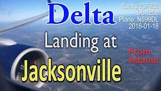 Delta Airline flight DL1258 landing at Jacksonville