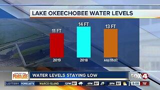 Lake Okeechobee water levels remain low