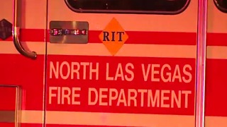 Firefighters battle building fire near Carey, Las Vegas Blvd.