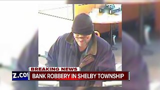 Police respond to bank robbery in Shelby Township