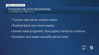 City of Tucson delays reopening until June 22
