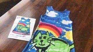 Gjør barnas tegninger om til designerklær