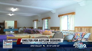 Asylum seekers begin sheltering inside of Benedictine Monastery