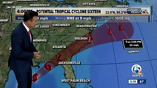 Update on Potential Tropical Cyclone 16