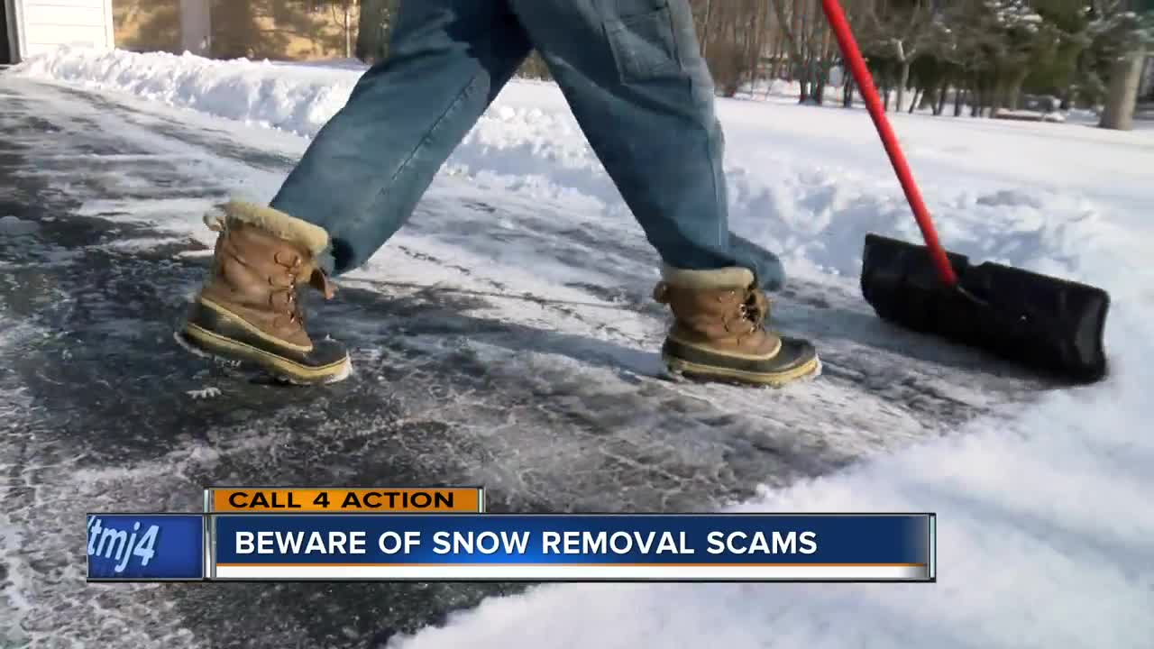 Beware of Snow Removal Scams