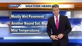 Rainy weekend ahead, 40s next week