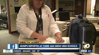 Schools send mumps warnings