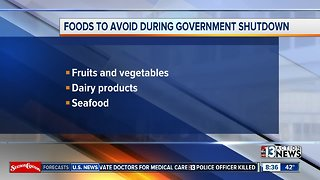 Foods to avoid during shutdown