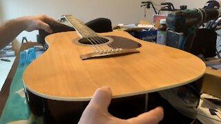 Repairing a bowl in acoustic guitar neck