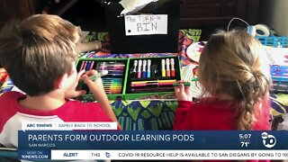 San Marcos parents form outdoor learning pods