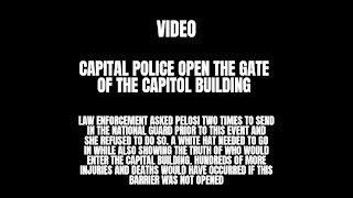 Capitol Police Were Directed To Open The Capitol Gates