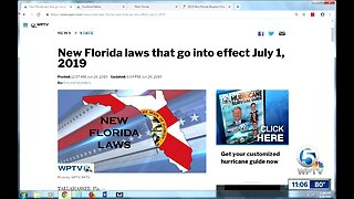 New Florida laws go into effect July 1