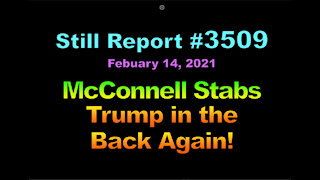 McConnell Stabs Trump in the Back Again, 3509