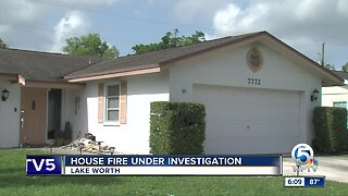 Lake Worth house fire under investigation
