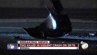 Two killed in Vista crash