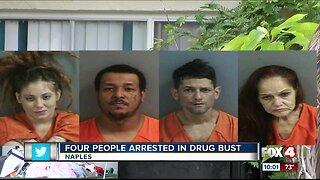 Four people arrested in drug bust
