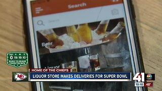 Liquor store launches delivery app ahead of Super Bowl Sunday