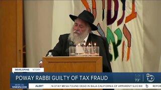 Poway rabbi pleads guilty to tax fraud