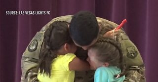 Vegas Lights FC helps military dad surprise daughters