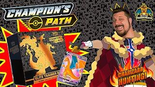 Champion's Path Elite Trainer Box | Charizard Hunting | Pokemon Cards Opening