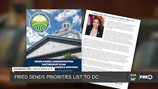 Florida Commissioner of Agriculture sends list of priorities to DC