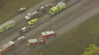 Double rollover crash closes Florida's Turnpike in both directions