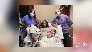 First baby of 2021 born in Baltimore