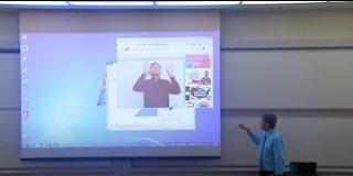 Professor Project Screen Prank !!
