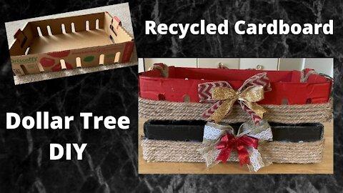Recycled Cardboard Box - Dollar Tree DIY