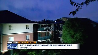 Red Cross assisting after apartment fire in Waukesha